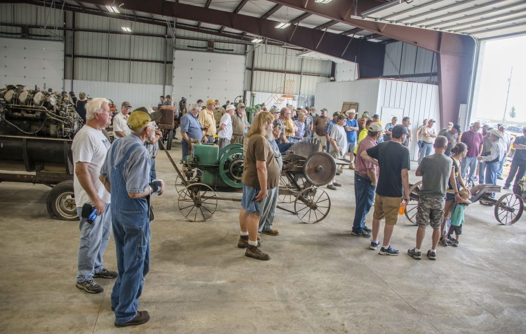 People attending Dosland Warehouse Auction