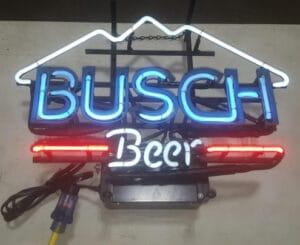 Busch Beer neon light