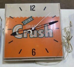 Vintage Orange Crush Lighted Clock