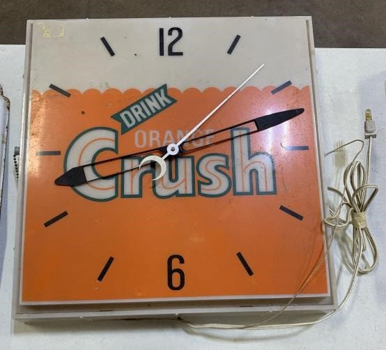 Vintage Orange Crush Lighted Clock